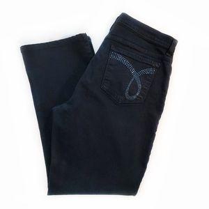 NYDJ   Black Sparkly Flat Pocket Plus Petite Jeans